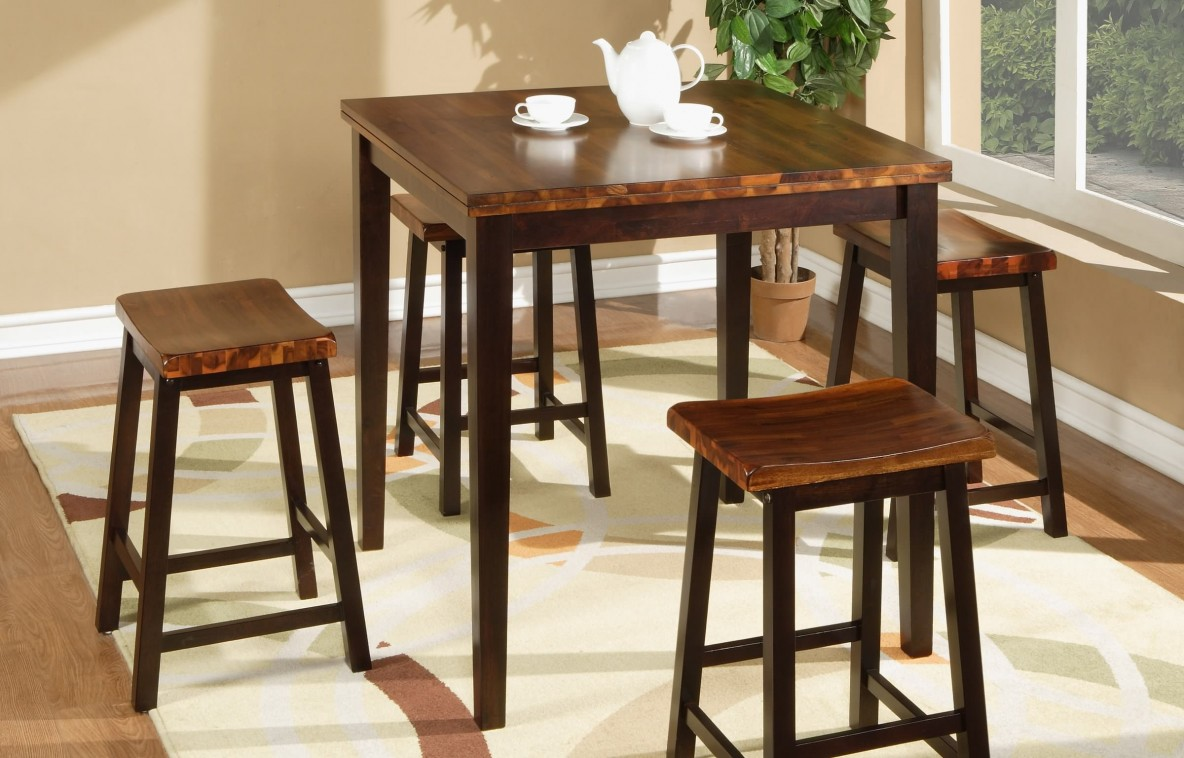 Acacia Tall Table and Stools