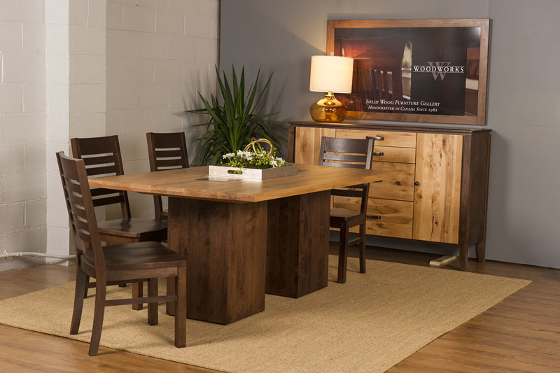 Heartwood Twin Pillar Table