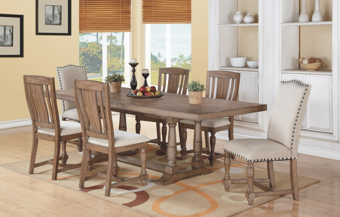 Sonoma Trestle Table Grey Fannys Furniture Kitchens - Wayfair trestle table